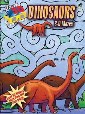 3-D Mazes Dinosaurs By Wynne, Patricia J.